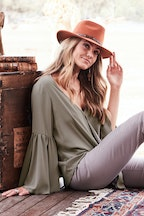 boho bird Flowing Water Blouse
