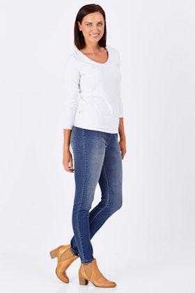 Vassalli Skinny Leg Pull On With Contrast Stitch