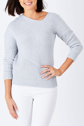 Nude Lucy Scully Off Shoulder Jumper