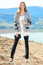 Threadz Fringed Zip Cardi