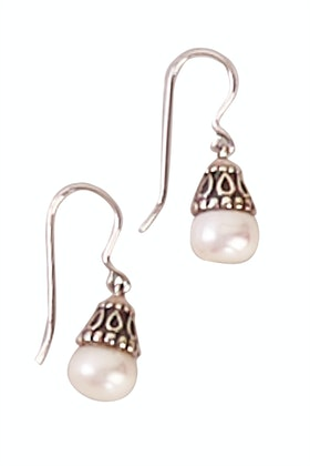Lush Designs Boho Pearl Small Earrings
