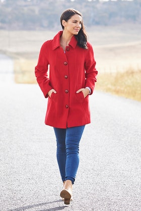 Pretty In Pink Raglan Coat