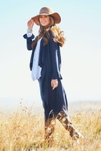 boho bird Falling For You Long Line Cardi
