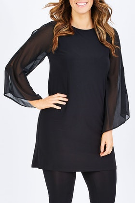 Y Bell Sleeve Shift