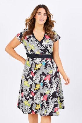 Rasaleela Leela Print Cotton Wrap Dress