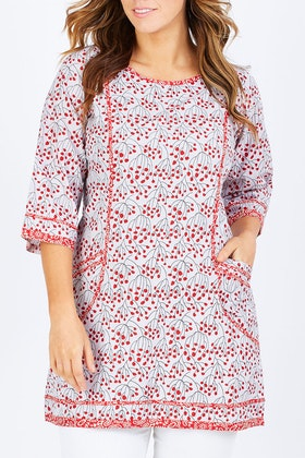 Rasaleela Connie Print Cotton Dress