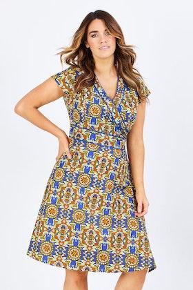Rasaleela Astrid Cotton Wrap Dress