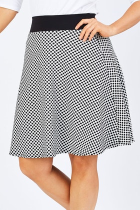 handpicked by birds Spotted A Line Skirt