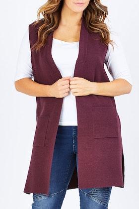 bird keepers The Longline Knit Pocket Vest