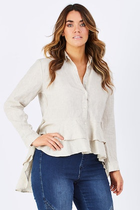Brave & True Peplum Top