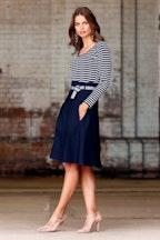 Sacha Drake Belted A-line Skirt
