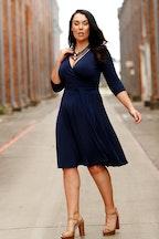 Sacha Drake Reverse Wrap Full Skirt Dress