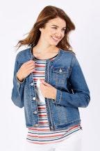 Threadz Zip Front Denim Jacket