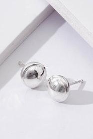 Silver Glimmer Sterling Silver Stud Earrings