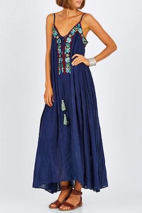 Naudic Harlow Maxi Dress Daisy Duke Embroidery