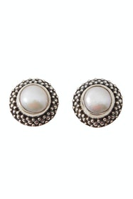 Pearl Vintage Stud Earrings