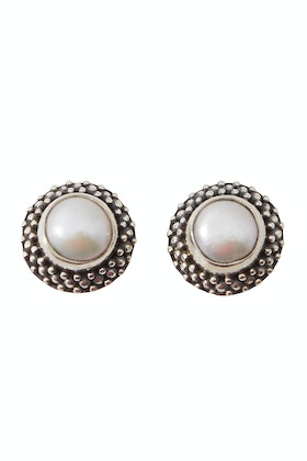 Lush Designs Pearl Vintage Stud Earrings
