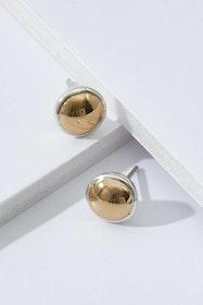 Golden Glimmer Stud Earrings