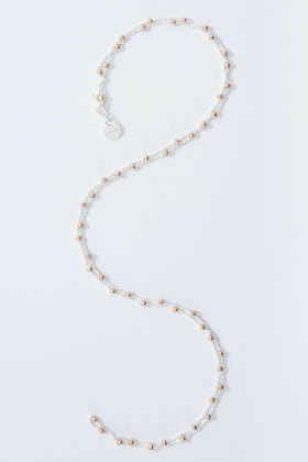 Najo Alogonquin Sterling Silver Rose Gold 80cm Necklace