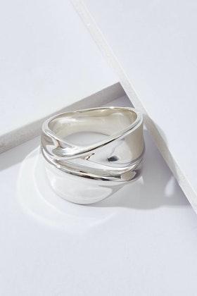Najo Somersault Sterling Silver Ring