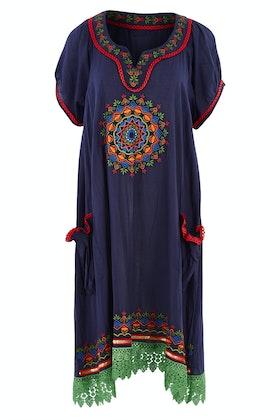 Naudic Sao Paulo Dress Mandala Embroidery