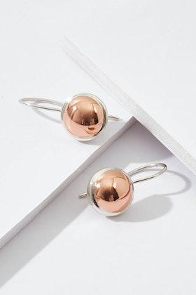 Najo Sterling Silver Rosy Glow Earring