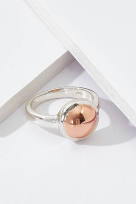 Najo Rosy Glow Sterling Silver Ring