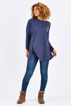 Vigorella Boxy Top W/side Split