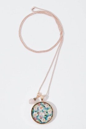 Nest Of Pambula Secret Garden Pendant With Rose Quartz Necklace