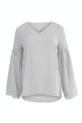 Wite Alberta Stripe Top