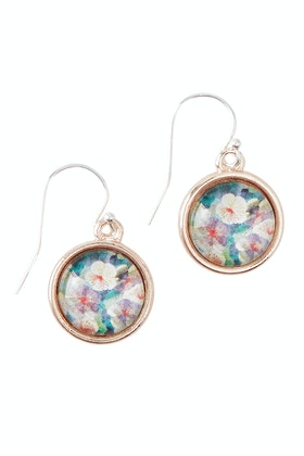 Nest Of Pambula Secret Garden Sterling Silver Drop Earrings