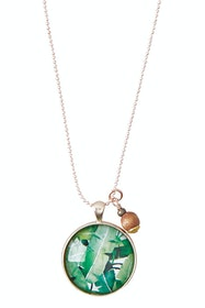 Daintree Pendant With Wooden Bead Necklace
