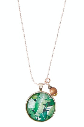 Nest Of Pambula Daintree Pendant With Wooden Bead Necklace