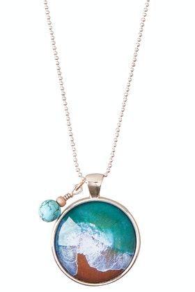Nest Of Pambula Sapphire Coast Pendant With Turquoise Magnesite Necklace