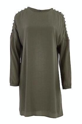 Fate + Becker Flora Buttoned Sleeve Dress