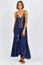Naudic Harlow Maxi Dress Daisy Duke Embroidery