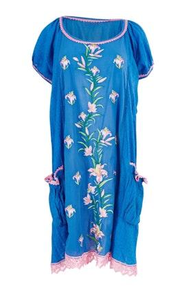 Naudic Sao Paulo Dress Romance Floral Embroidery