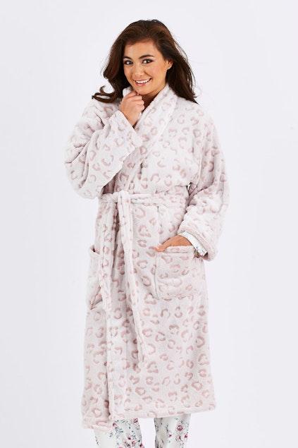 Bambury Microplush Leopard Robe - Womens Dressing Gowns at Birdsnest
