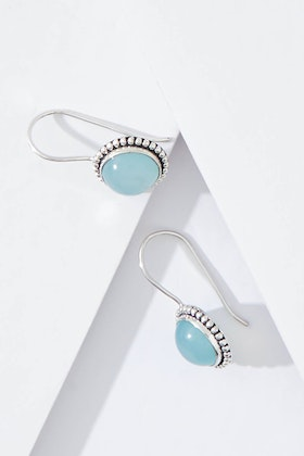Najo Little Lagoon Chalcedony Sterling Silver Earrings