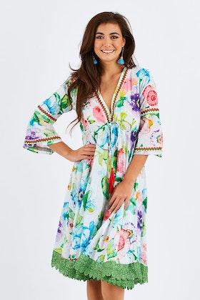 Naudic Roseate Dress Waterlilly Print