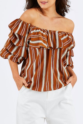 Brave & True Shoreline Frill Top
