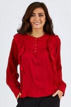 Fate + Becker Midtown Ruffle Shirt