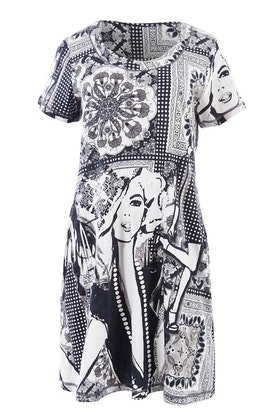 Orientique Graphic Dress