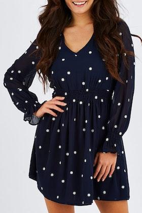 Sass Daisy Fields Embroiderd Dress