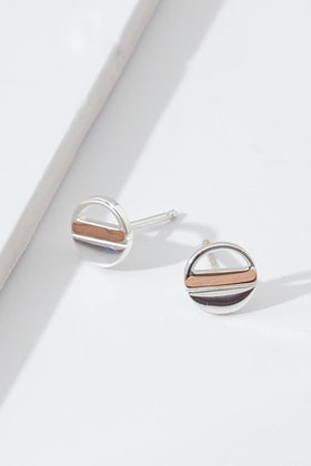 Najo Venus Sterling Silver Stud Earrings