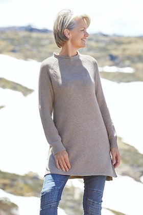 Natural for birds Natural Split Knit Tunic