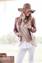 boho bird My Cherished Leather Jacket