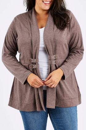 Merino Essentials Merino Side Button Cardigan