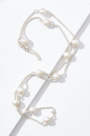 Alana Pearl And Sterling Silver Necklace