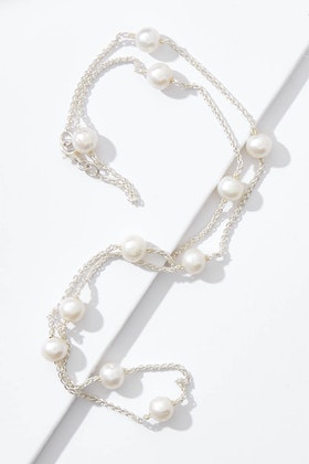 Lush Designs Alana Pearl And Sterling Silver Necklace